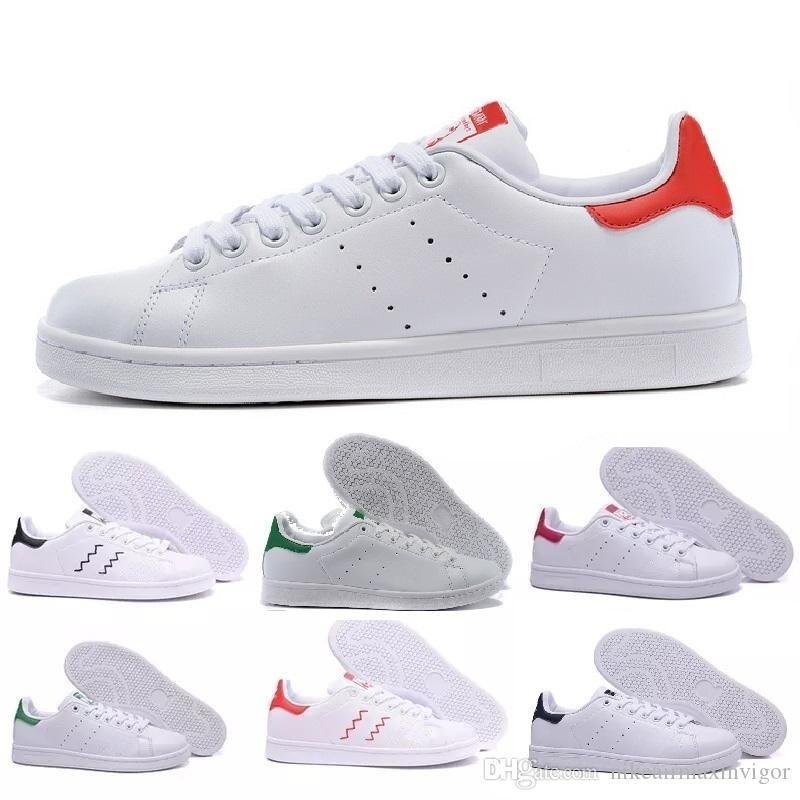 adidas Nuove scarpe da uomo firmate di alta qualità scarpe da ginnastica di marca smith appartamenti in pelle scarpe da donna firmate di lusso di moda taglia 5-11