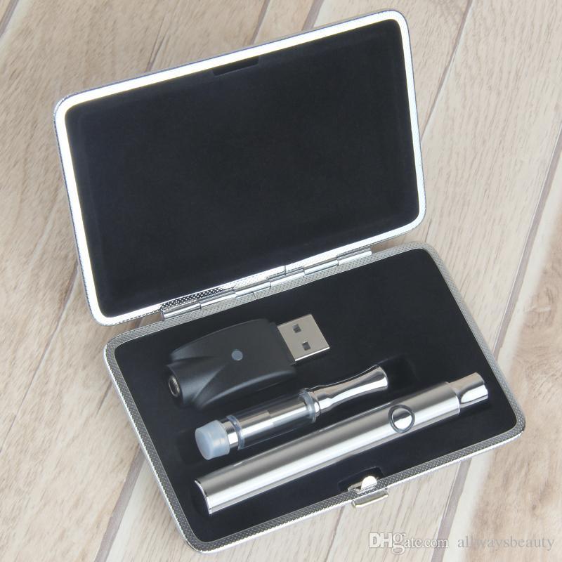 Luxo Embalagem CE3 CE3 Cerâmica Bobina Kits 510 Cartucho Vaporizadores E Cigarros Variáveis Tensão Bateria LO Vape Pens 380mAh Pré-aquecimento de óleo Pen Kit