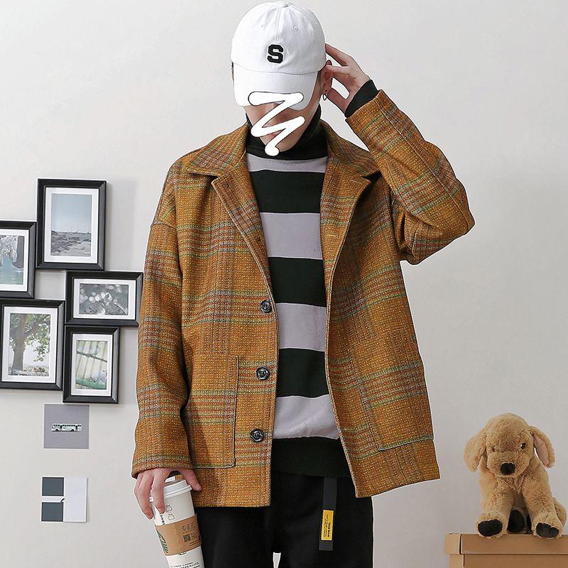 2019 Homme Automne en vrac Version coréenne rayé sauvage Tendance Casual manteau de veste à manches longues grande taille Streetwear