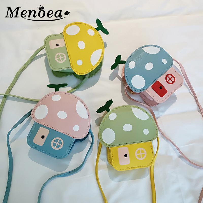 Menoea niñas bebés Bolsas 2,020 manera de la forma de seta estilo de dibujos animados chica linda bolsas Paquetes niños casa de diseño de los niños Accesorios