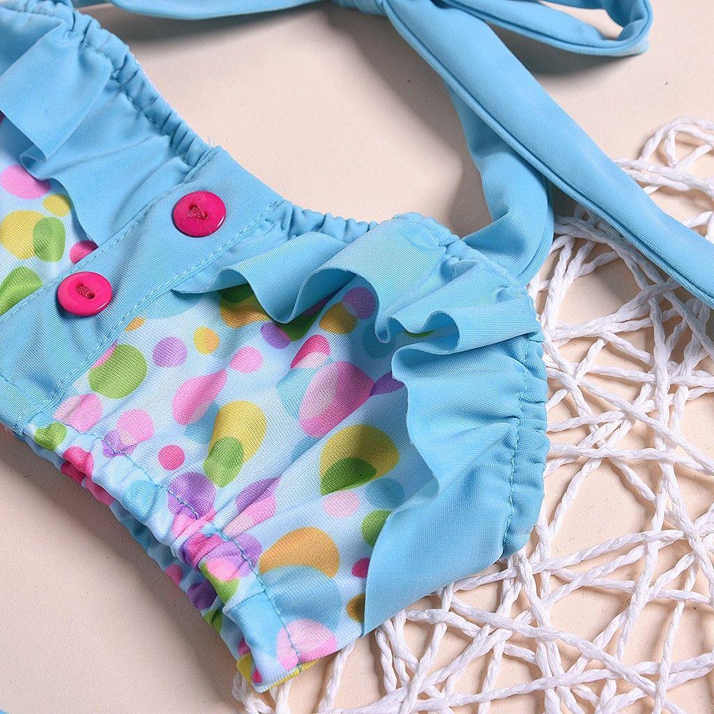 2020 New Summer girls Close-fitting Suspender Dot swimsuit girls split Two-pieces Swimwear, children stripe bikini L1220