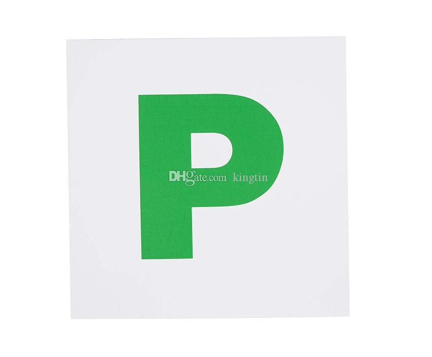 100 pcs etiqueta de apoio magnético Totalmente Placas Magnéticas Verde P 2 Pacote, Extra Forte Vara Para Novo Motorista