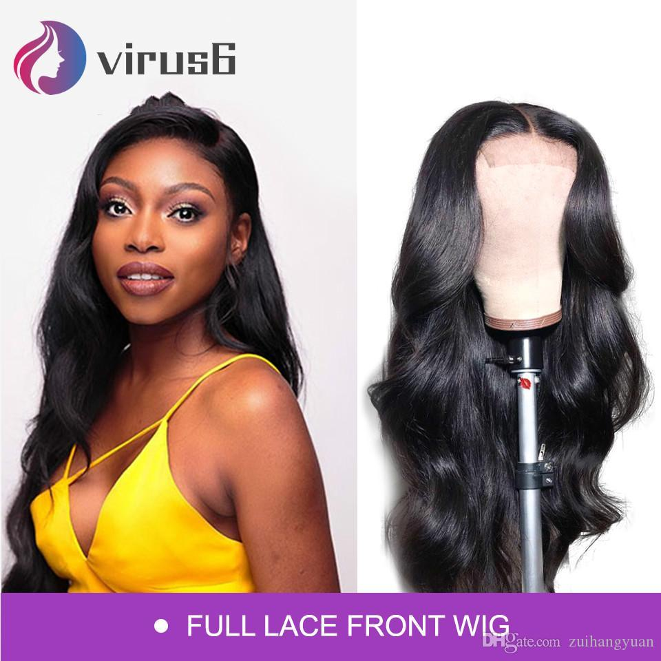 Peruvian Full Lace Human Hair Wigs with Baby Hair 150% Density Pre Plucked Body Wave Human Hair