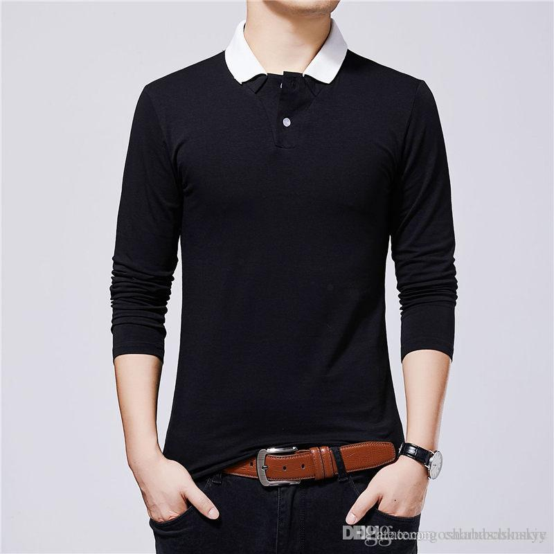 Spting autunno progettista del Mens maglietta maniche lunghe uomo Plus Size T-shirt traspirante superdotati parti superiori casuali
