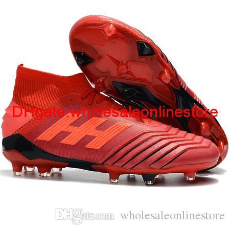 Zapatillas de fútbol para hombre de la nueva llegada 2019 Predator 19.1 Botines de fútbol para el tobillo FG Predator 19 botas de fútbol de tango acelerador Tacos de futbol