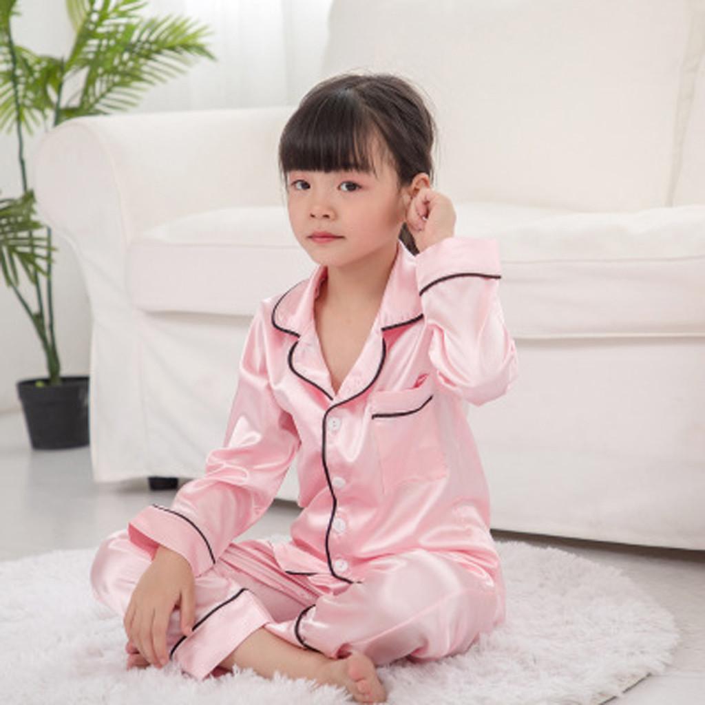 Menina Menino Criança Baby Kids Long Sleeve Tops + Pants Pijamas Pijamas Outfits Set menina recém-nascida camisola infantil 2 peças