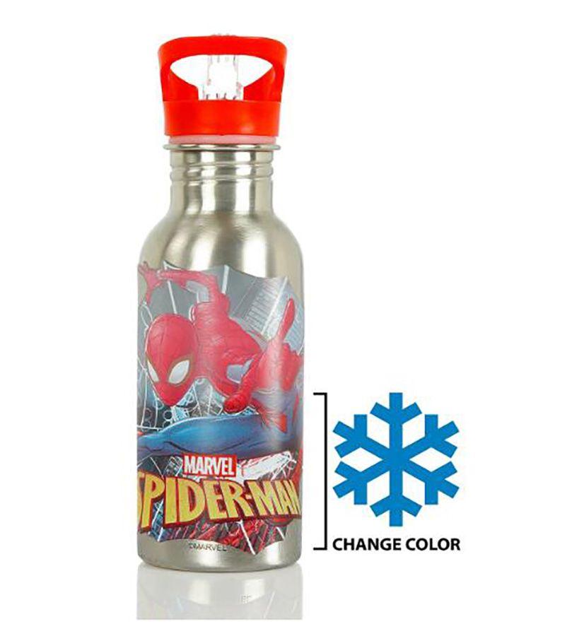 Garrafas de água de aço inoxidável Mudança de cor de aço inoxidável Marvel Spiderman Character