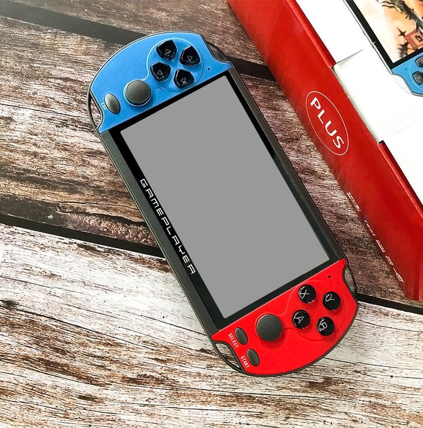 Retro console portatile 32/64/128 Bit schermo HD da 5,1 pollici 8G Rom X7 Plus Fronte Rocker mano del gioco Video Player MP5 MD SFC GBA PAP Gioco