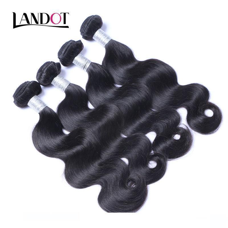 Virgin del brasiliano dei capelli dell'onda 100% dei capelli umani del tessuto Bundles peruviani capelli malese indiano cambogiano Brazillian Remy ondulati capelli naturali Bl
