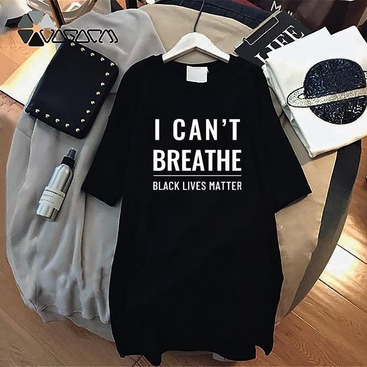 Lettera delle donne di estate della stampa del vestito 2020 nuovo arrivo non riesco a respirare Abiti lettere nere Abita Matters Moda Abbigliamento Resist