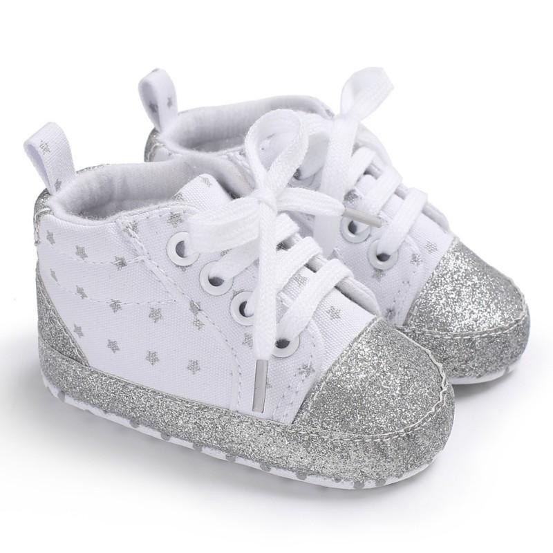 Neugeborenes Baby Schuhe Baumwolle Rund Lit Babyschuhe Erste Pacers Mode Herbst Leinwand Prinzessin Prewalker