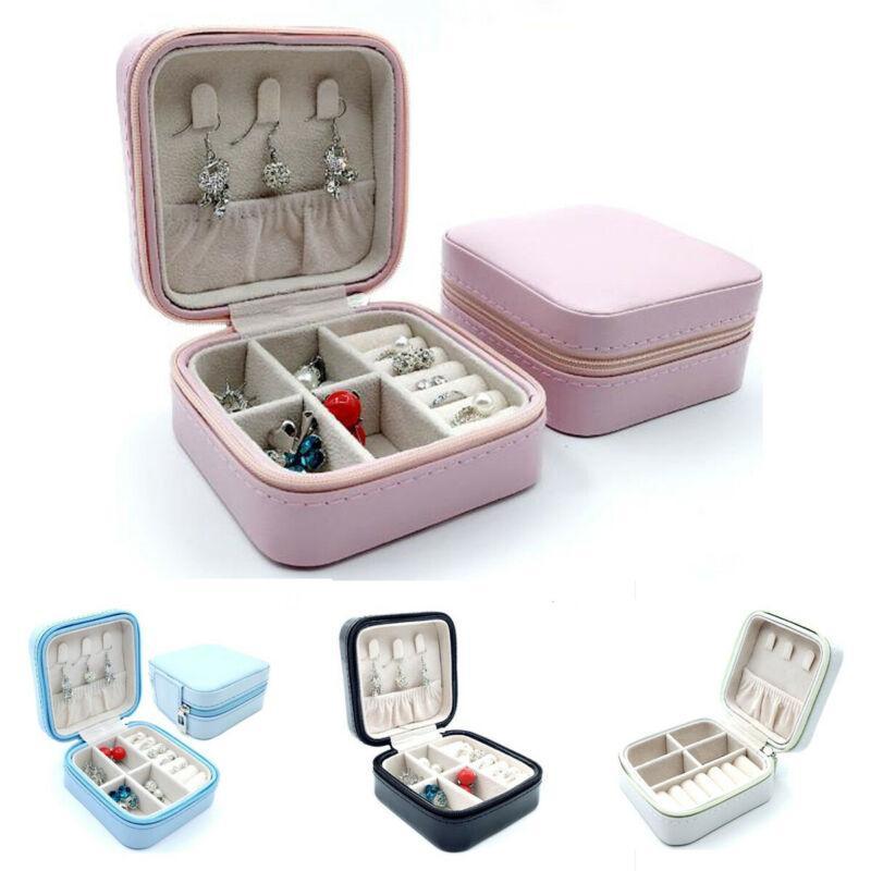 2020 새로운 여성 보석 포장 상자 PU 가죽 보석 상자 목걸이 반지 보관 케이스 주최자 디스플레이
