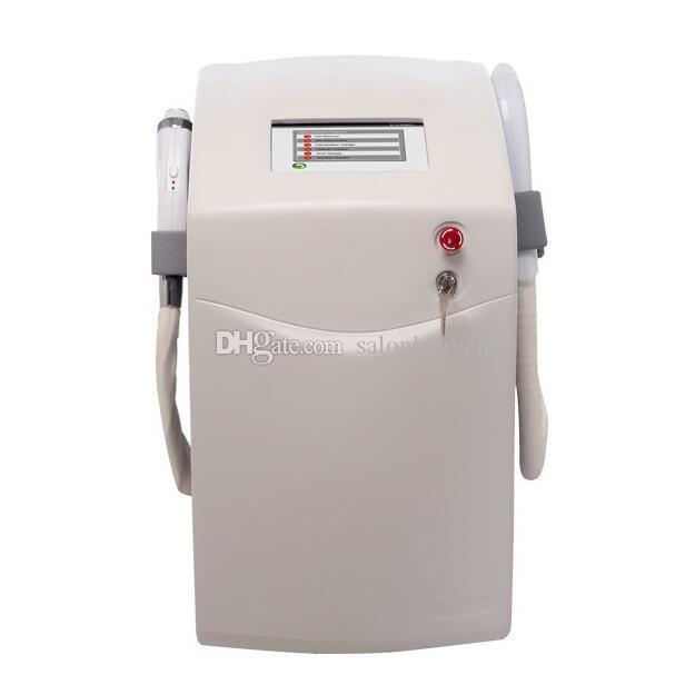 عالية الجودة اثنين مقابض إزالة الشعر النائية + RF مع 3 مجسات الصباغ النمش إزالة ipl elight الليزر معدات إزالة الشعر