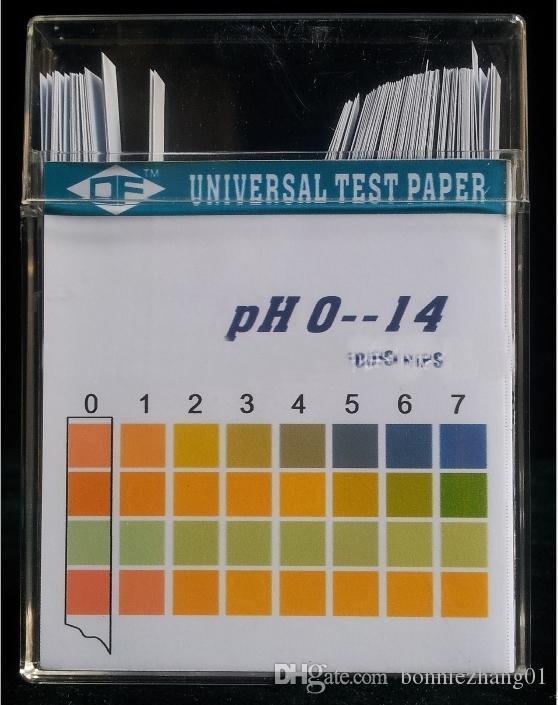 100 box strisce PH test / 100pcs tornasole PH 0-14 Acid alcalino carta di prova per l'acqua saliva urina test trucco alimentari PH Meter