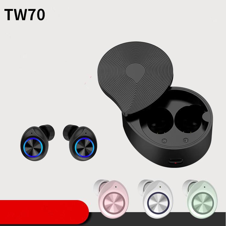 TW70 Touch Bluetooth-Headset wirklich drahtlose Stereo-tws 5.0 Bluetooth-Headset Handy-Kopfhörer DHL frei