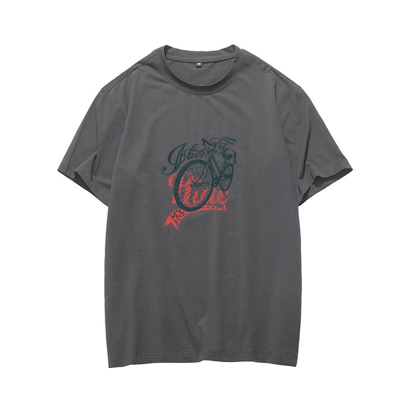 New design Hot sale sport Men's T-shirt Fashion Casual with bike Printing hoodie Custom Made High quality summer