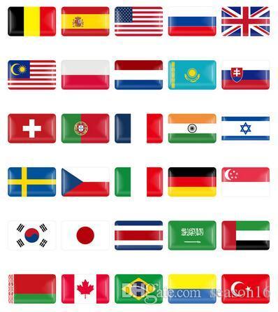 10 шт. / Компл. Рулевое Колесо 3D Щит Флаг Стикер Национальные Флаги Эмблема Наклейка Украшения для BMW Audi toyota ford nissan Авто Аксессуары