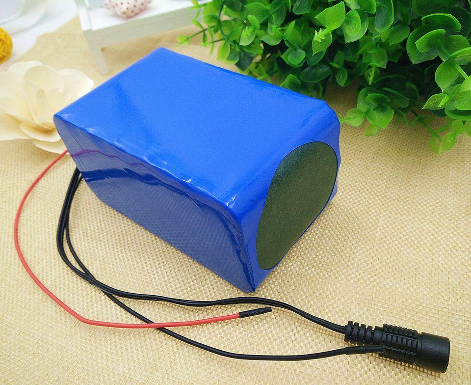 Frete grátis china recarregável 12 v bateria de lítio 15AH 18650lithium baterias para 10W a 300W motor + 2A carregador