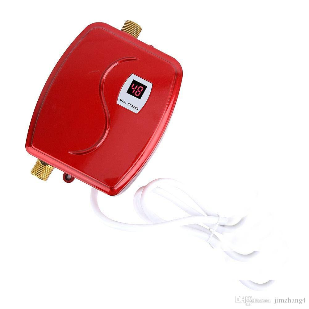 XY-FG-G, 3800W mini aquecedor elétrico aquecedor de água instantânea aquecimento led display proteção proteção cozinha