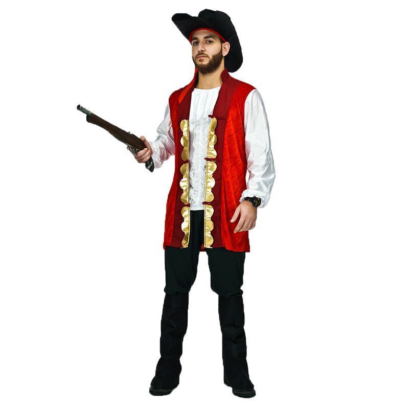Pirate Green White Mens Adult Buccaneer Halloween Costume Pants