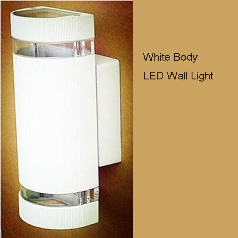 6 stks / partij Outdoor Lighting 8W GU10 Porch Lights / Outdoor Wall Light Alumunim Up en Down Wandlampen Waterdichte veranda schuift IP65