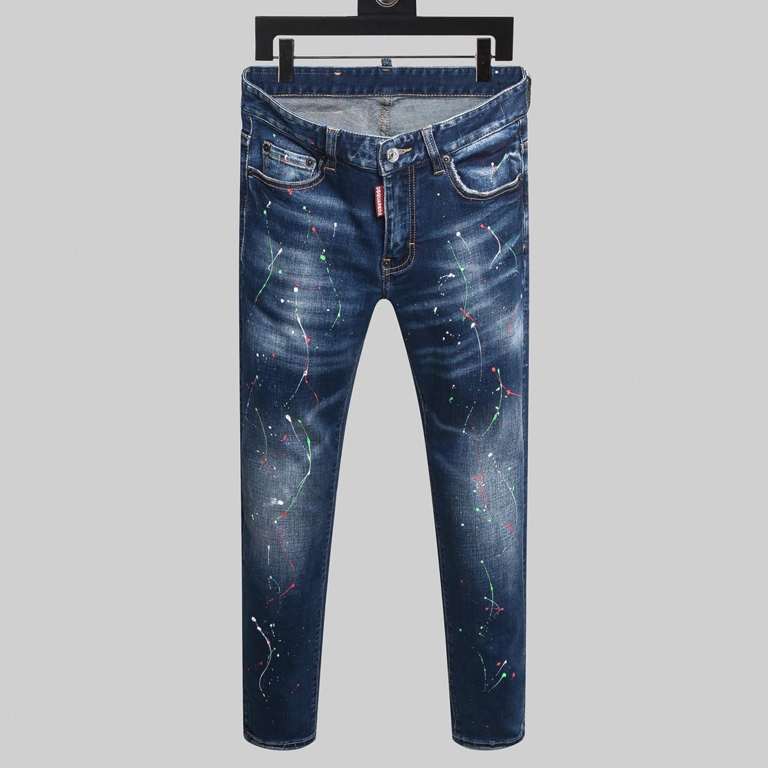 2020 высокое качество бренда джинсы моды для мужчин поп узкие брюки бегуна грузовые штаны мотоцикла мужские узкие джинсы