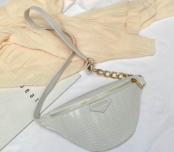 Motif Crocodile Dames poitrine Sac de taille 2020 New Hot Fashion Messenger Net Red Femme Ins Sac d'épaule sauvage