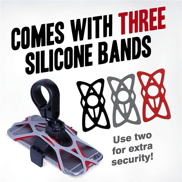 bandes de silicone universel vélo vélo téléphone portable GPS Holder Band Bandage Moto Fixateur guidon Support support pour fixation Tie