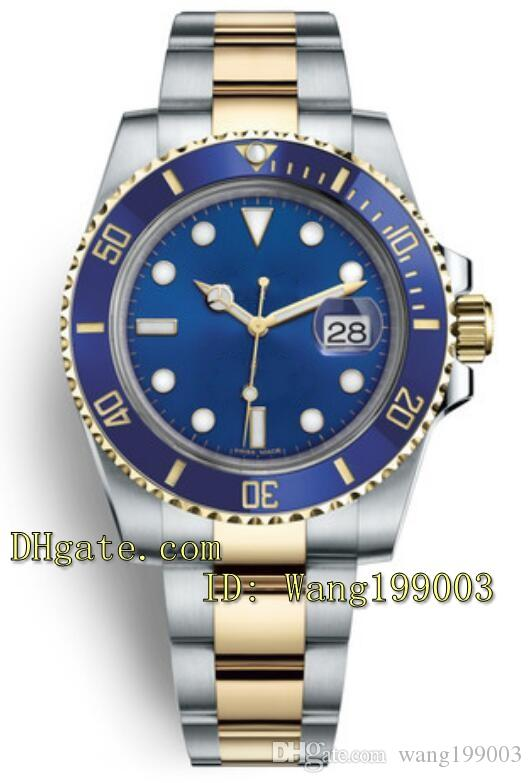 Top-Qualität 40mm Blue Ceramic Lünette Blue Dial 116613LB 116618LB 116619LB Herrenuhr Asian 2813 Bewegung Automatische Herrenuhr Uhren