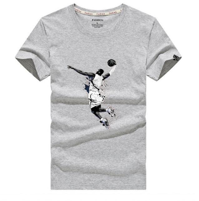 100% pamuk Slam dunk baskı casual erkek o-boyun t shirt moda erkek erkek T-shirt kısa kollu erkek tişört tops