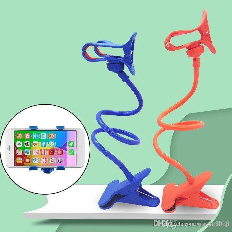 Universal-Faule Handy Gooseneck Stand Halter Stents Flexible Bett Schreibtisch Tabelle Clip Halterung für Telefon Flexible Halter Arm newstore Nachrichten