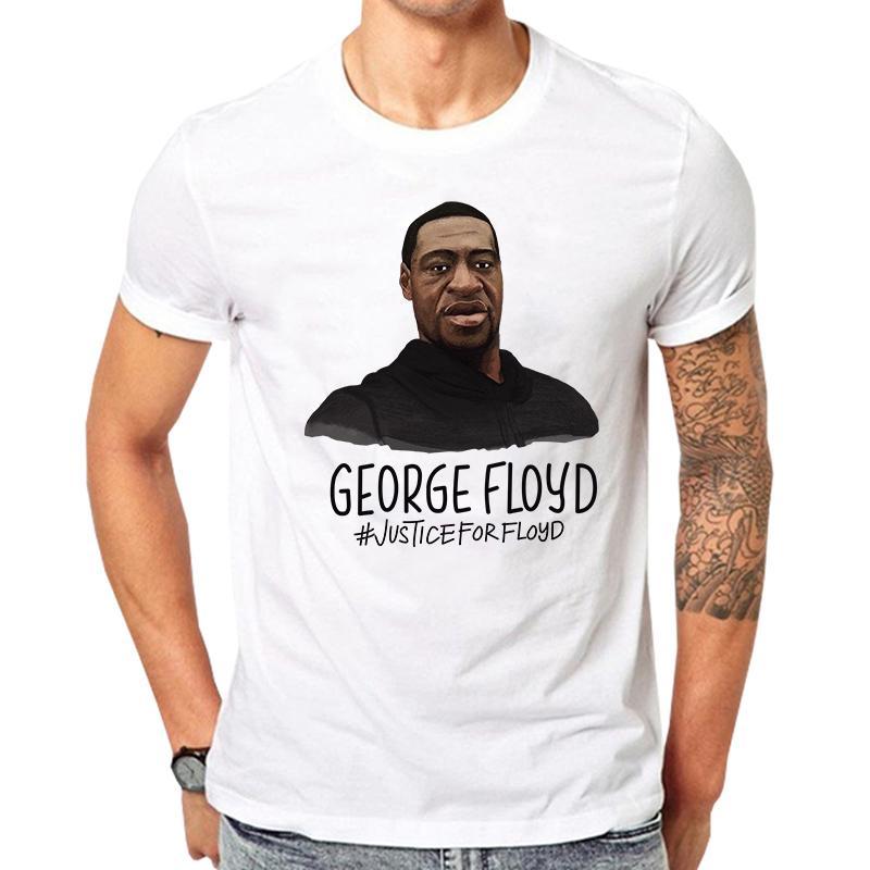 Eu não posso respirar Carta Imprimir T Shirt Justice For George Floyd Mora Preto Matéria T-shirt Mulheres manga curta O pescoço solto T-shirt Y200603