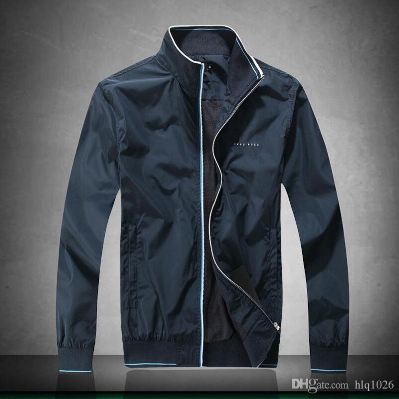 Stand Collar Mens Winter Jacket Casual Men Zipper Streetwear Hip Hop Fashion Brand Long Sleeve Men Jackets