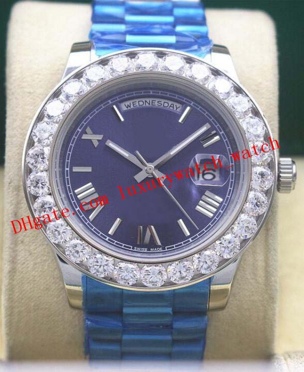 3 ألوان الساعات الفاخرة رومان أكبر الحافة الماس ووتش الصدر 228348 41MM آسيا 2813 التلقائي أزياء الرجال ووتش ساعة اليد