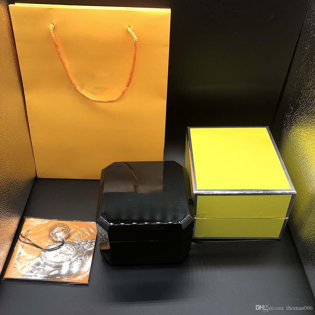 La mejor calidad Caja de madera de color negro Caja de regalo 1884 Caja de madera Folletos Tarjetas Caja de madera negra para ver Incluye Bolsa de Certificado