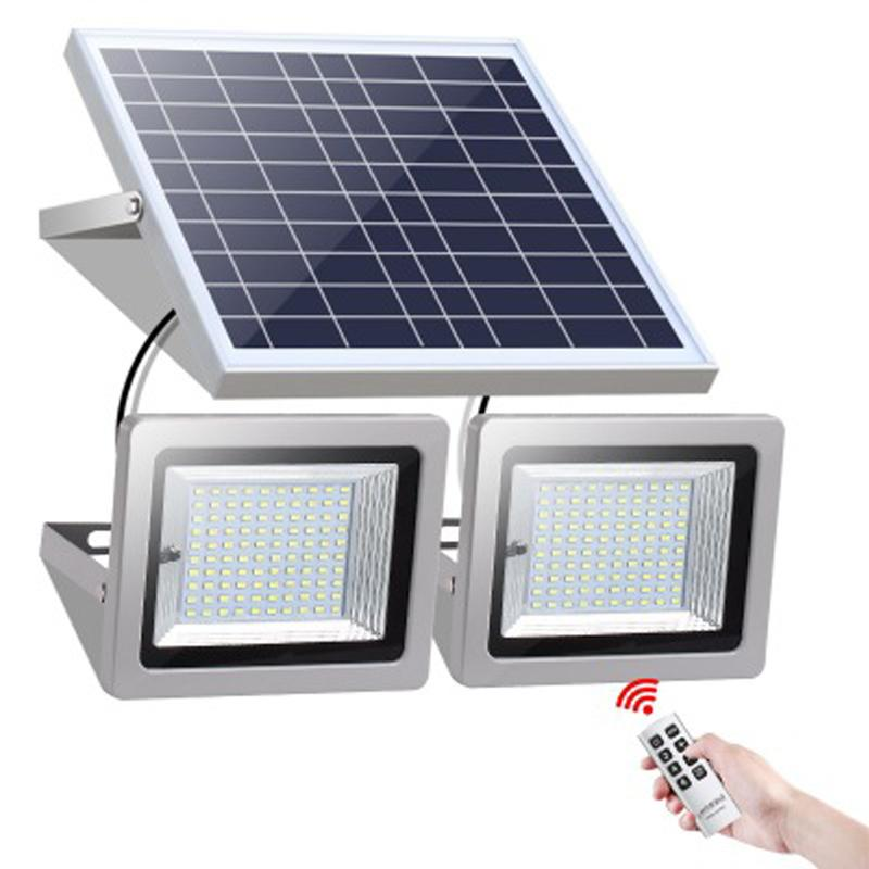 Double Lamps Solar Floodlight 63LEDs 120LEDs 160LEDs 200LEDs Outdoor Flood Light Landscape lamp with remote control for Lawn Garden