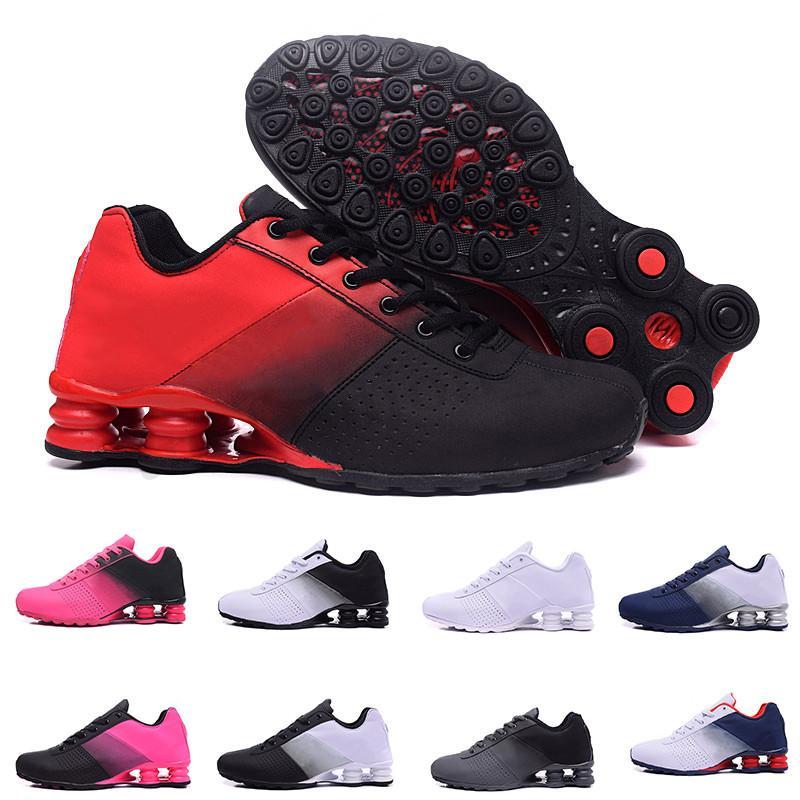 Nike Air Max Shox Nueva Entregar 809 hombres de los zapatos corrientes Negro Blanco Rojo Verde alta calidad atlética zapatillas de deporte de corrientes de tamaño 36-46 TE03