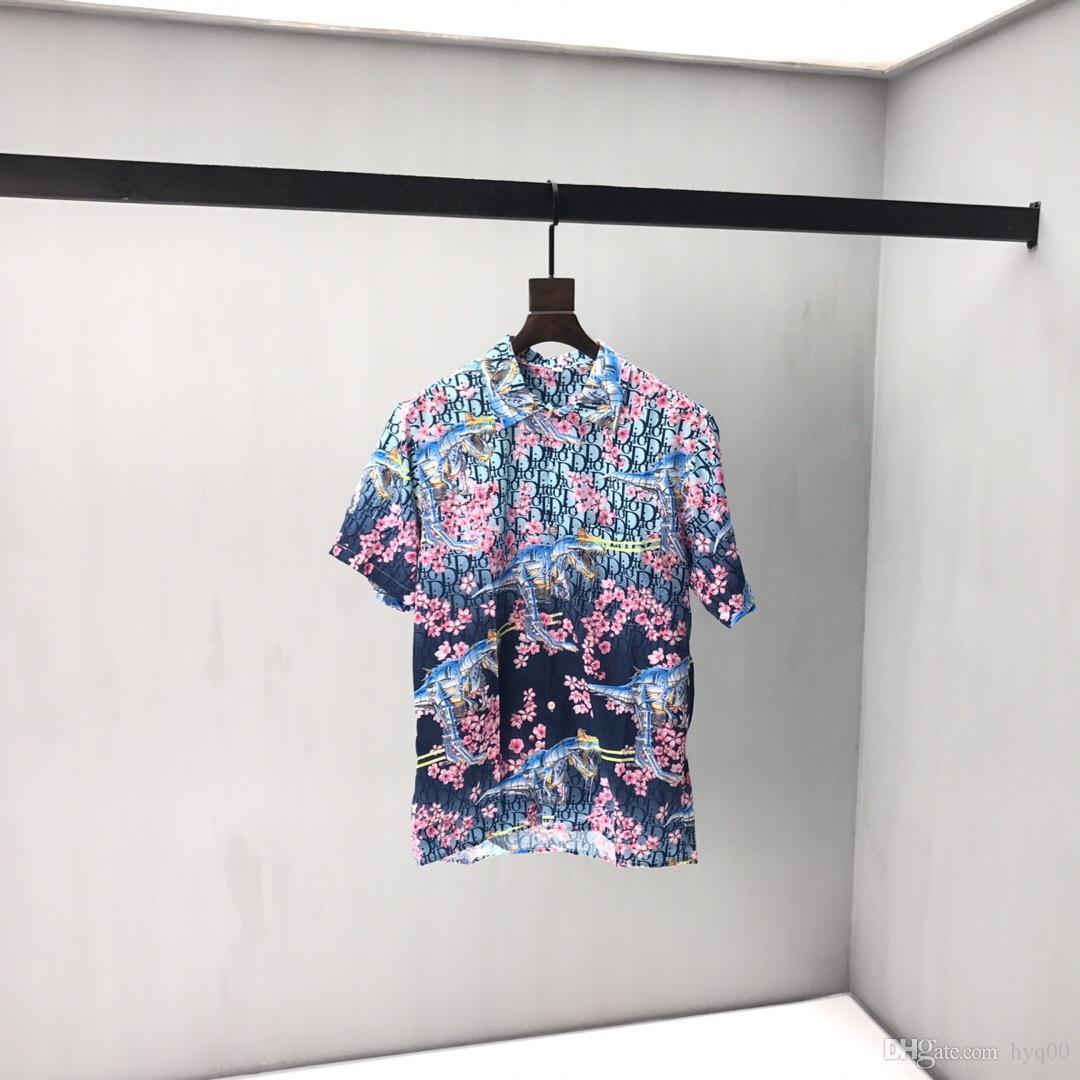 2020ss весна и лето новый высококачественный хлопок печать с коротким рукавом круглый вырез панели футболка размер: m-l-xl-xxl-xxxl цвет: черный белый q3
