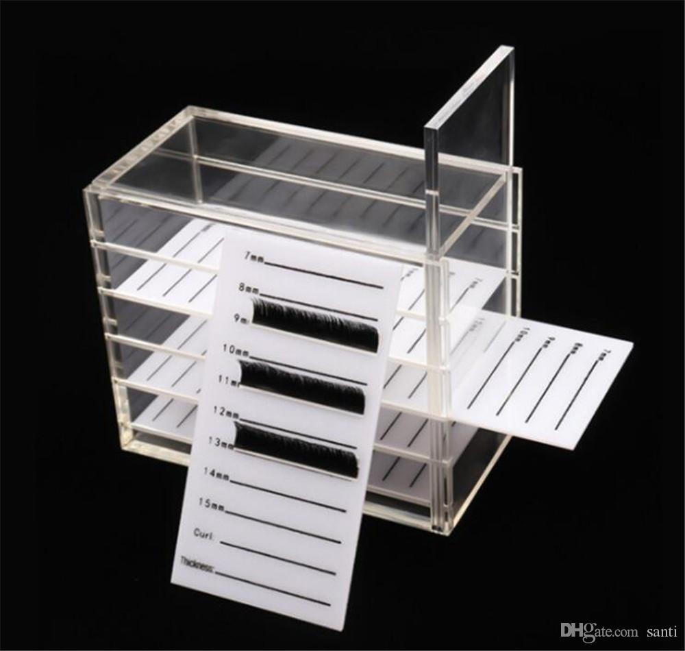 Hot Beauty Falsa caja de almacenamiento pestañas 5 capas de acrílico Pallet Lash sostenedor para la extensión de la pestaña de las pestañas individuales pantalla de volumen Herramientas de stands
