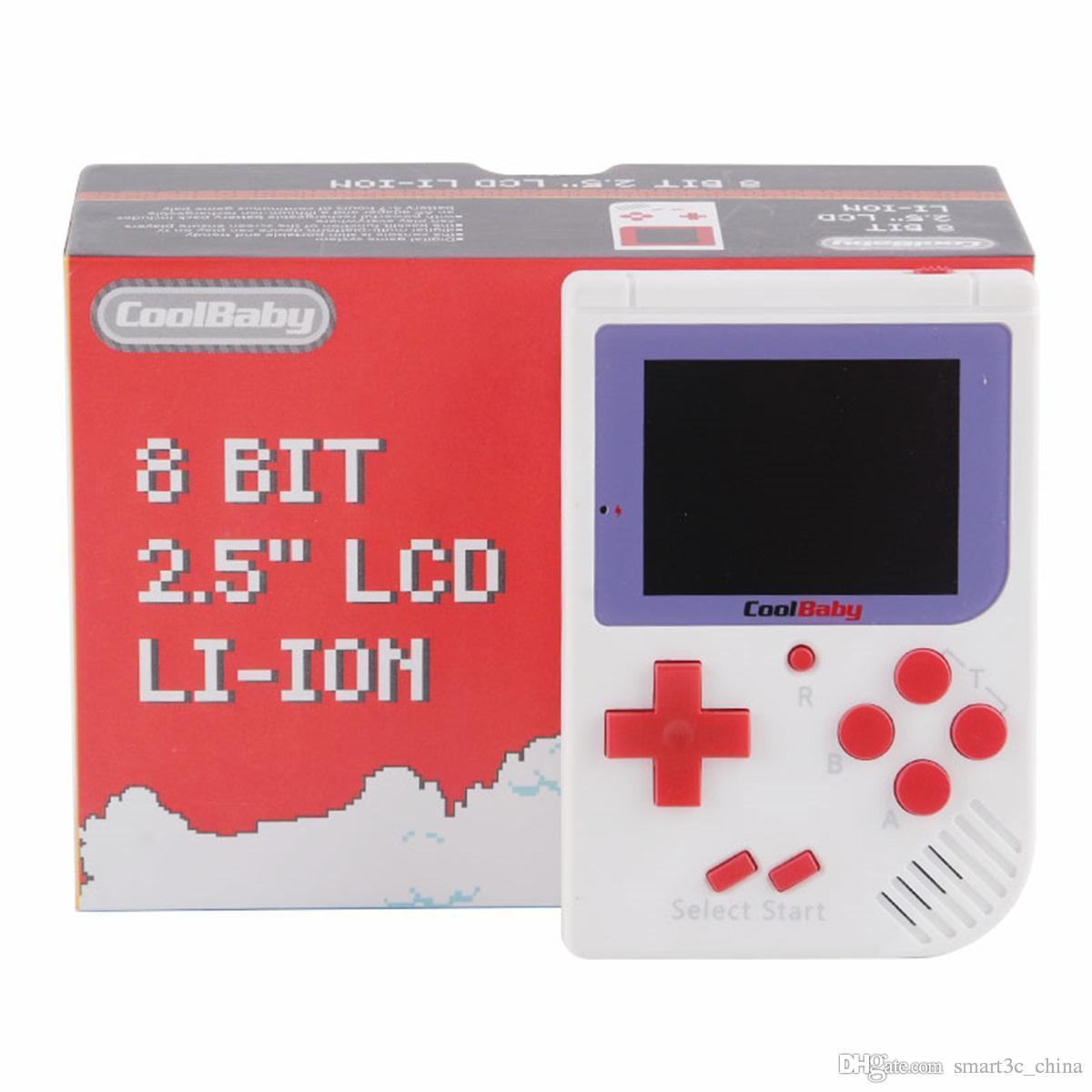 CoolBaby Mini Consoles de jeu portables RS-6 Portable Retro Mini Console de jeu Couleur LCD 2.0 pouces Lecteur d'Ecran Pour FC Jeu A-ZY by DHL