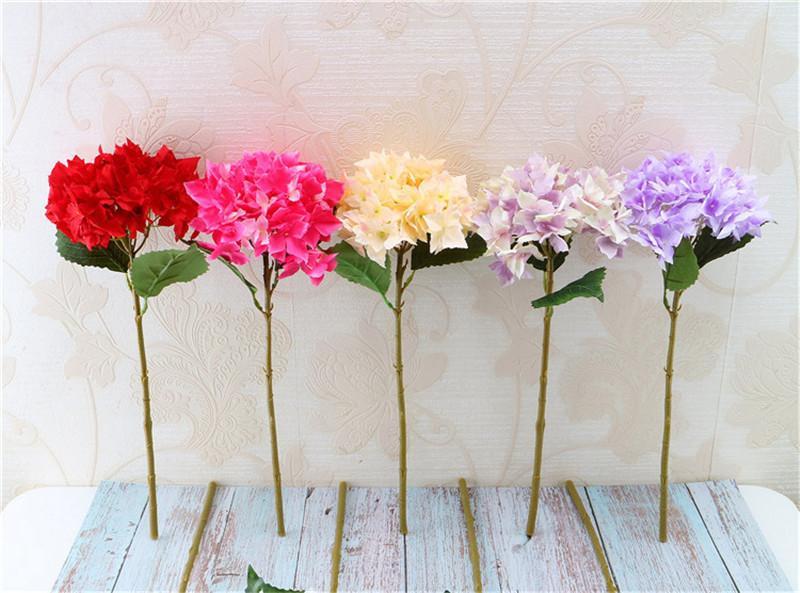 Decoración de la boda Nuevo single de Corea del Hydrangea Inicio Conjunto boda del Hydrangea simulado falso Flores Decoración de seda hortensias