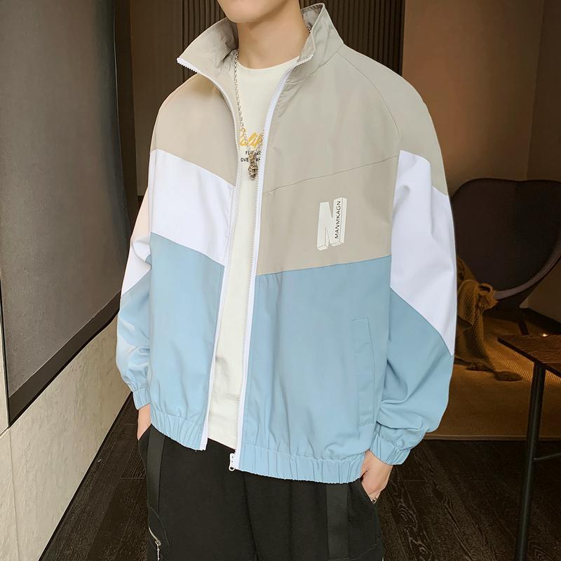 Осень весна повседневная куртка мужчины молния уличная одежда ветрозащитный мужской тонкий хип хоп верхняя одежда Куртки человек пальто плюс размер EE9JK