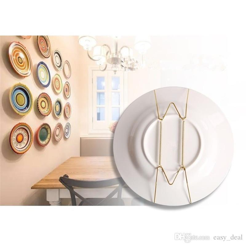 Art Plate Plat Printemps Démontable Crochet Murale Porte-Cintre Diverses Tailles Suspendus Fil Décoration de La Maison En Gros yq00221