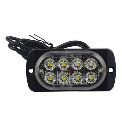 4pcs 12-24V Truck Car 8 LED Flash 24w Strobe emergência luz de advertência Flashing Lights