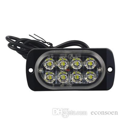 4pcs 12-24V Truck Car 8 LED Flash 24w Strobe emergência luz de advertência Flashing Lights