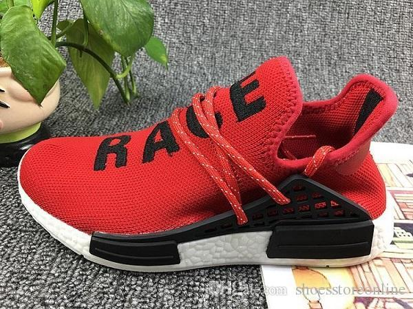 release date: a9f73 31f04 2019 Pharrell Williams NMD HUMAN RACE In Yellow Red Black Blue Grey Green  White Men Women Fashion Sport Sneakers Running Shoes Eur 36 47 Running  Shoes ...