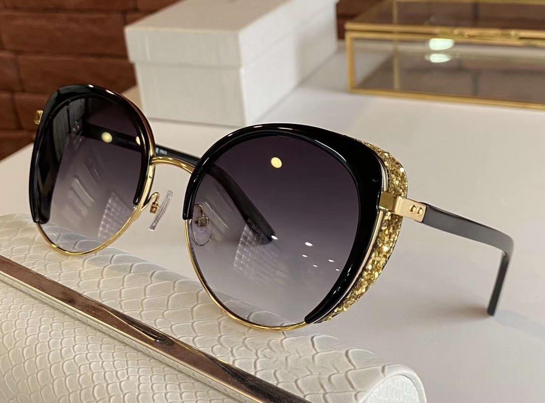 Cat Eye Gabby / s Óculos de sol Ouro preto / cinza Shaded Sonnenbrille Occhiali da sole mulheres óculos de sol Óculos de tão novo com caixa