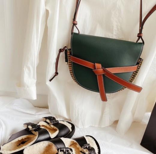 Designer de ombro saco de selim Bolsas Bow Decoração Moda texturizados CFY2002263