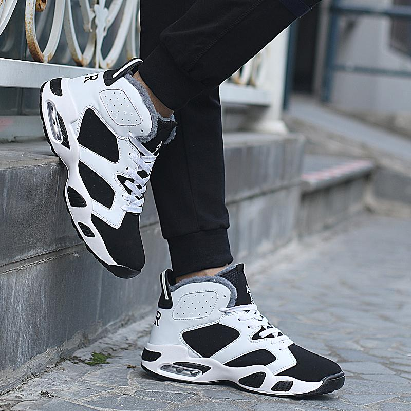 Size 35-45 Unisex Winter Super Warm Sneakers Men Cushion Snow Boots Male Work Safety Shoes High Top Ankle Botas