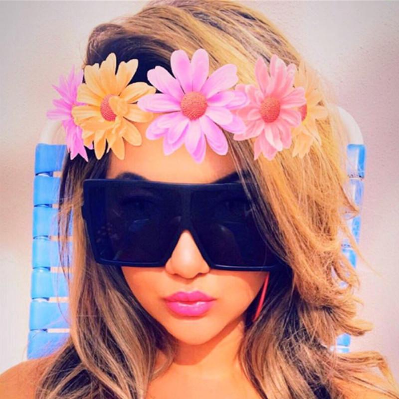 Visión cuidado de la moda gafas de sol modelos de explosión de Europa tendencia gafas de sol fugaz de la calle Herramientas salvaje marea de los vidrios de Salud envío